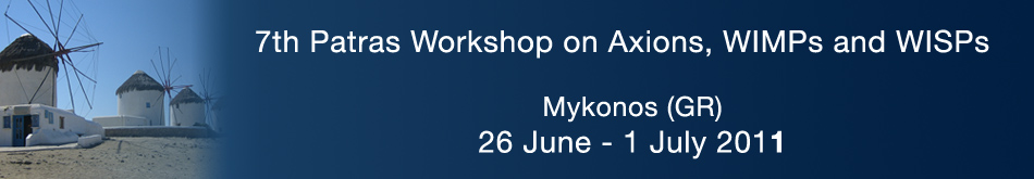 7th Patras Workshop on Axions, WIMPs and WISPs